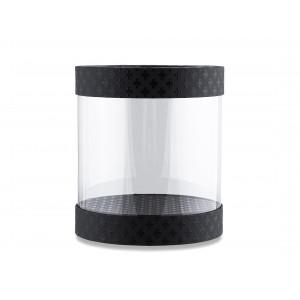 Круглая коробка с прозрачными стенками