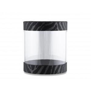 Цилиндрическая коробка с прозрачными стенками