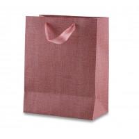Бумажный пакет из мелованного картона с атласной лентой