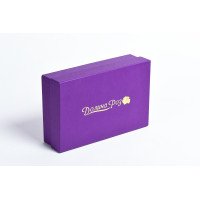 Коробка крышка-дно с золотым тиснением
