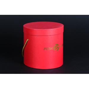 Коробка тубус с золотым тиснением