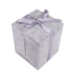 Сюрприз - бокс бархатный серый