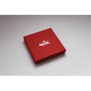 Коробка крышка дно с ложементом в атласной ткани