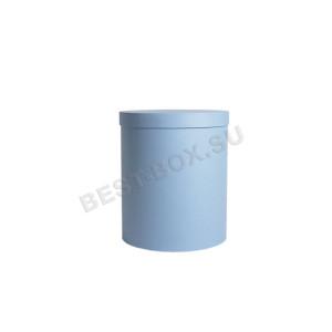 Шляпная коробка голубая