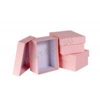 """Подарочные коробки """"крышка-дно"""" прямоугольные (розовый)"""