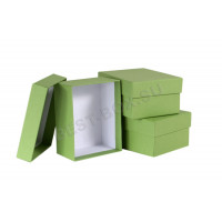 """Подарочные коробки """"крышка-дно"""" прямоугольные (зеленый)"""