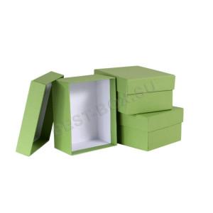 Набор прямоугольных коробок (зеленый)