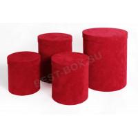 Подарочный набор тубусов (красный флок)