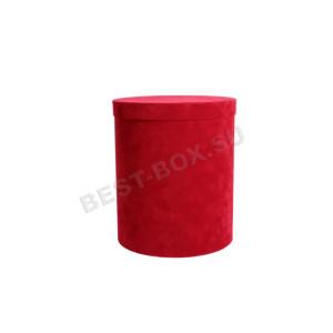 Тубус бархатный красный