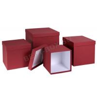 Матрешка-куб (бордовый)