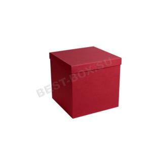 Коробка куб бордовый