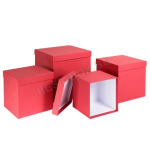 Матрешка-куб (красный)