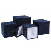 Синий куб кашировкой флоком