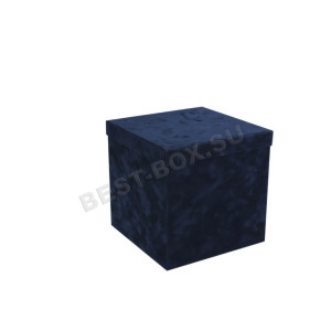 Куб (синий бархат)