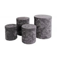 Подарочный набор тубусов (серый флок)