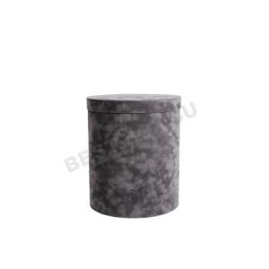 Тубус бархатный серый