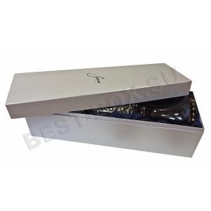 Прямоугольная коробка серебряного цвета