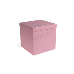 Подарочная коробка куб (розовый)