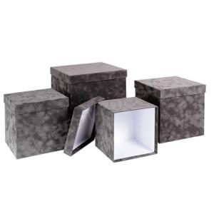 Серый куб кашировкой флоком