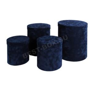 Подарочный набор тубусов (синий флок)